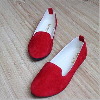 Cómodo y elegante soporte de zapatos de zapatos de mujer talón plano punta redonda Flats Casual más colores availably verde claro