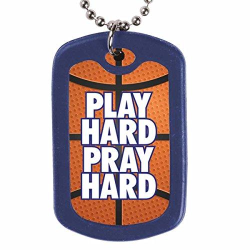 Play Hard Pray Hard Faith Tag Christian (Kerusso Christian Necklace)