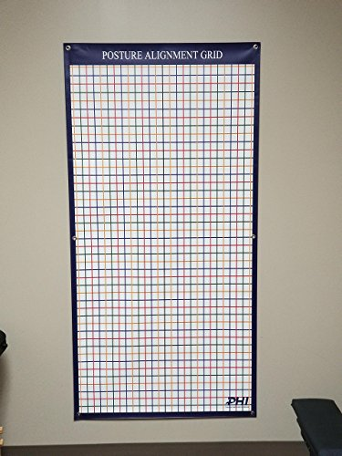 Wall mounted color coded posture grid, matte finish