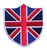 union jack patch - Union Jack United Kingdom UK Flag Shield Embroidered Iron on Patch Free Shipping