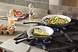 Calphalon Ceramic Nonstick Omelette Pan, 8 and 10'', White