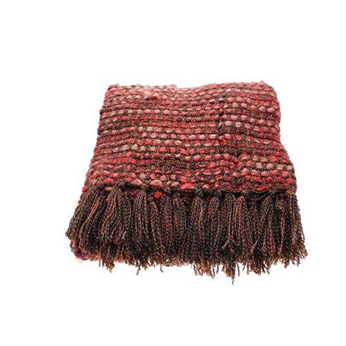 "Martha Stewart HARMONY 50x60"" Throw Blanket, Heathered Red"