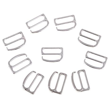 Pack of 100 Metal Fig 9 Lingerie Bra Strap Adjuster Clips for Corset Bikini