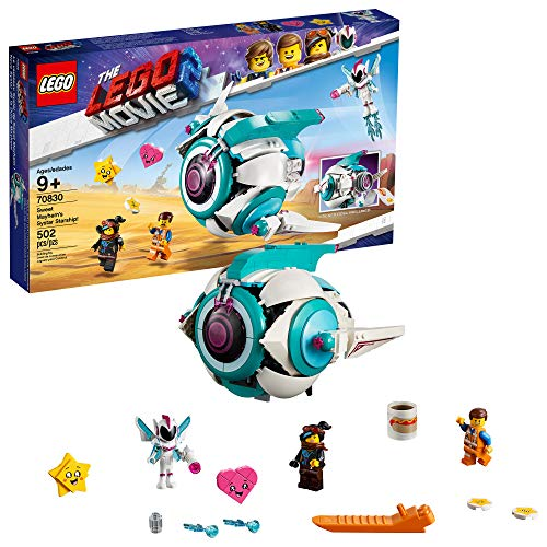 LEGO THE LEGO MOVIE 2 Sweet Mayhem?s Systar Starship! 70830 Building Kit, Spaceship Toy for 9+ Year Old Girls and Boys, New 2019 (502 Pieces) (Mall Island Outlet Long)