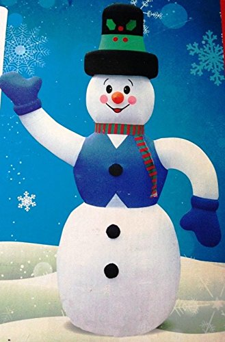 Outdoor Lighted Snowman Amazon huge 20 ft tall lighted snowman inflatable christmas huge 20 ft tall lighted snowman inflatable christmas holiday rare find workwithnaturefo