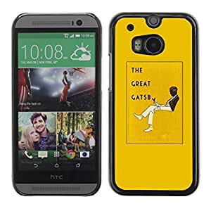 Be Good Phone Accessory // Dura Cáscara cubierta Protectora Caso Carcasa Funda de Protección para HTC One M8 // The Great Gatsby Book Yellow Cover Read