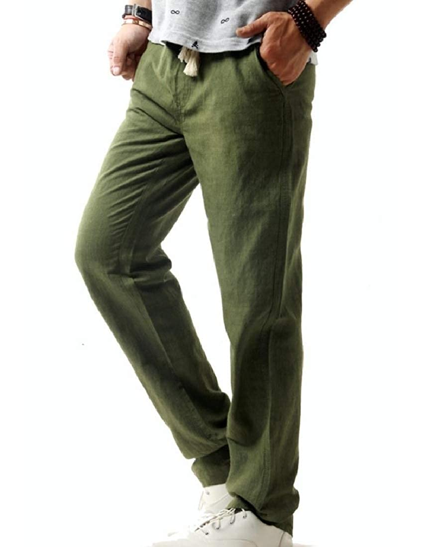 Coolred-Men Oversized Pure Color Sports Pants Simple Casual Trousers