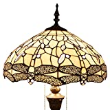 Tiffany Style Floor Stainding Lamp Stone Dragonfly Table Desk Reading Lighting 64 Inch Tall