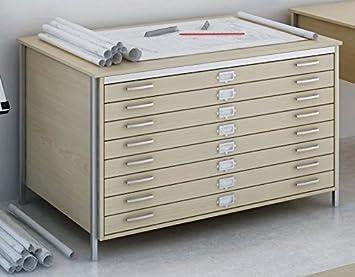 Hudson S Office Furniture Ltd Plan Format A0 En Chene 8 Tiroirs