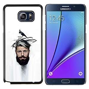 Caucho caso de Shell duro de la cubierta de accesorios de protección BY RAYDREAMMM - Samsung Galaxy Note 5 5th N9200 - Hombre del bigote