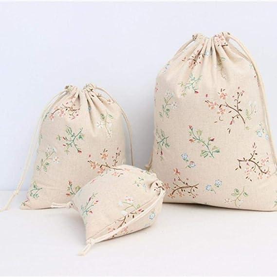 FXC - 1 bolsa de tela de lino y algodón para ropa sucia, bolsa de ...