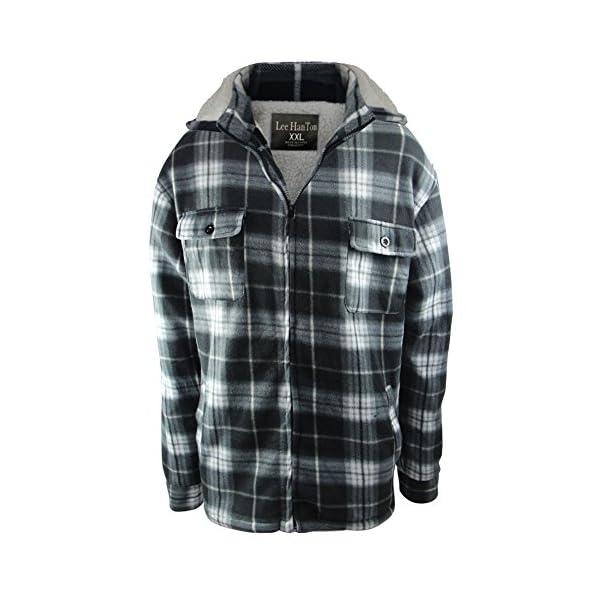 Eurogarment Winter Heavy Warm Sherpa Lined Fleece Plaid Flannel Jacket Men Plus Size S-5XL Big&Tall Mens Coat