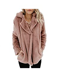 Women Fleece Coat Winter Warm Teddy Bear Fur Oversize Jacket Fluffy Outwear