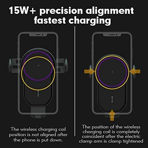15W Qi Wireless Car Charger Air Vent Holder telefono for l'iPhone Samsung Huawei veloce ricarica wireless Auto Charger sensore di serraggio (Plug Type : Car Air Vent Clip)
