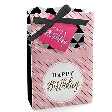 Amazon.com: Chic Feliz cumpleaños – rosa, negro y oro ...