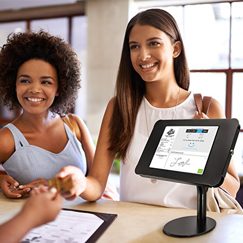 """iBOLT TabDock Point of Purchase - Heavy Duty weighted 8.5"""" stand w/ locking holder for POS / Point of Sale, Kiosk, Check-out, displays ( iPad Pro 9.7"""", iPad 4 / 3 / 2 / iPad Air 1 / 2)- Black by iBOLT (Image #4)"""