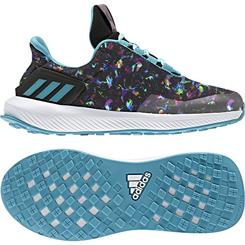 adidas Rapidarun Uncaged K, Zapatillas de Deporte Unisex Niños Varios Colores (Negbas/Azuene/Ftwbla)