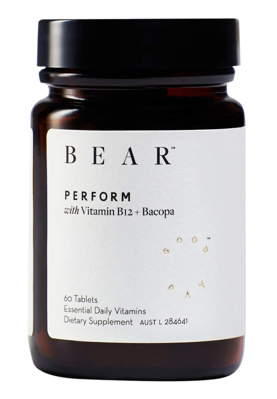 Bear Perform with Vitamin B12 + Bacopa (for Clarity, 60 Tablets)