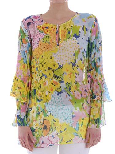 Blusa A0208 Donna e in Ferretti Seta cod Alberta Multicolor Viscosa gxSO7wAn