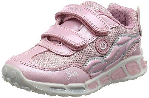 Geox Shuttle C, Zapatillas Para Niñas Rosa (Pink/silver)