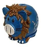 Forever Collectibles NFL Large Piggy Bank, Detroit Lions