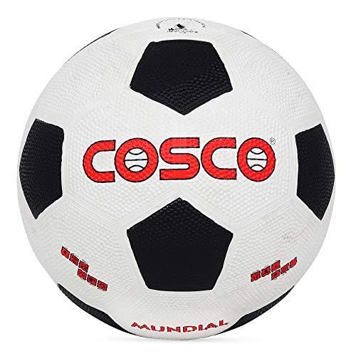 Cosco Mundial Foot Ball, Size 5  White/Black