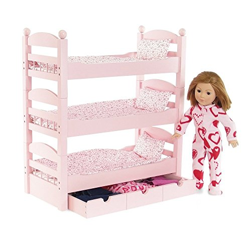 Amazon Com 18 Inch Doll Furniture 3 Single Stackable Doll Beds