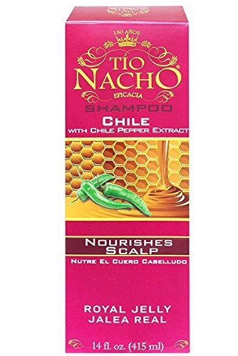 Tio Nacho Chile Shampoo 14 oz with Royal Jelly Ginseng Aloe Vera Wheat Jojoba