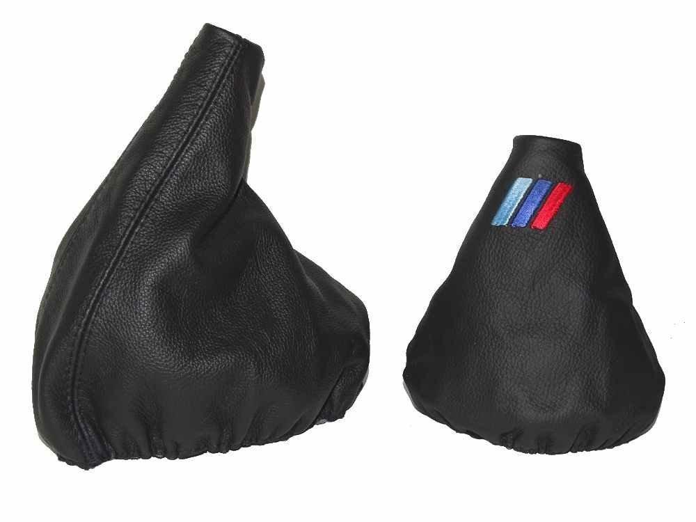 /1995/Gear e freno a mano in pelle nera Mpower Logo Per BMW E34/1988/