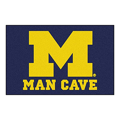 University of Michigan Man Cave Area Rug (starter) Michigan Starter Rug