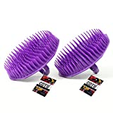 COTU (R) Shampoo Scalp Massage Brush (Purple Color) (Pack of 2)