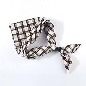 YIXINY Pajarita Hombre Elegante Bufanda De Camisa Enrejado Corbatas 60 * 60CM 13 Especies ( Color : 13 )