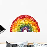 Wallmonkeys Fruit and Vegetable Rainbow Wall Decal Peel and Stick Business Graphics (24 in W x 15 in H) WM123138