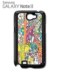 Lmf DIY phone caseHappy Animals Elephant Giraffe Mobile Cell Phone Case Samsung Note 2 WhiteLmf DIY phone case