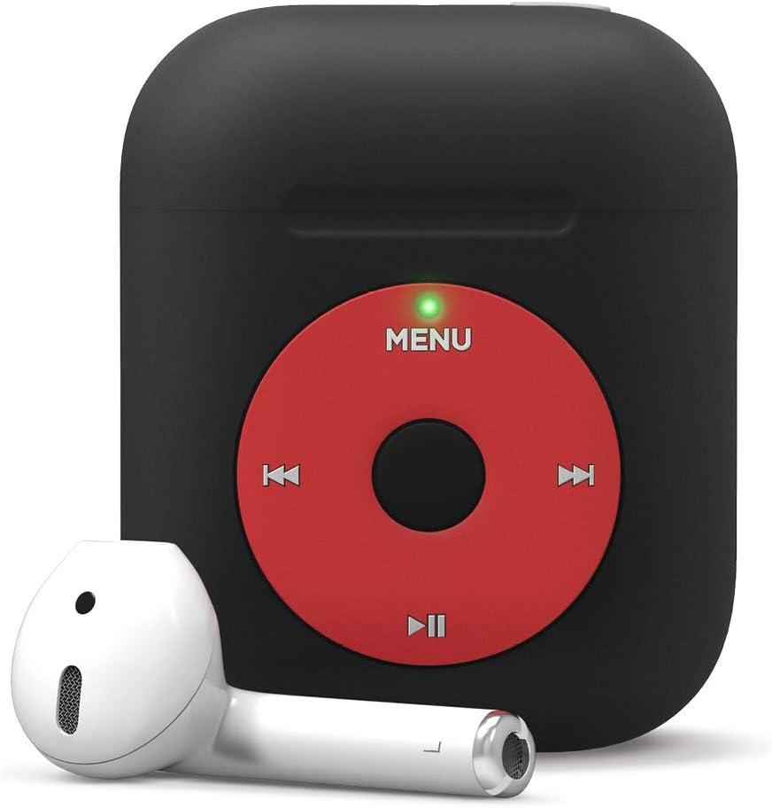 elago AW6 Case Designed for Apple AirPods Case 1 & 2, Classic Music Player Design Case [US Patent Registered] (Black)