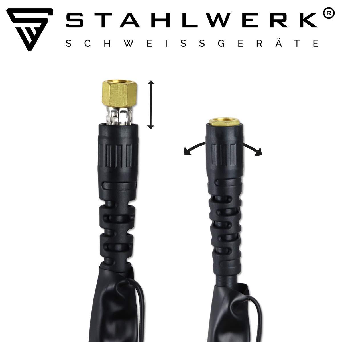 hochflexibel 2-polig gasgek/ühlt STAHLWERK WIG Schwei/ßbrenner WP-26 mit 8 Meter Schlauchpaket bis 200A ergonomischer Griff