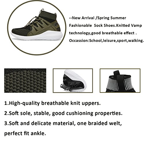 ASHION Sneakers Tempo Scarpe 2 Sportive da Casual Ginnastica grigio Sport Libero Running Super Light Bambini rqwxrPz
