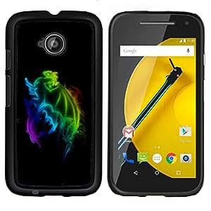 """For Motorola Moto E2 / E 2nd gen , S-type Rainbow Dragon"""" - Arte & diseño plástico duro Fundas Cover Cubre Hard Case Cover"""