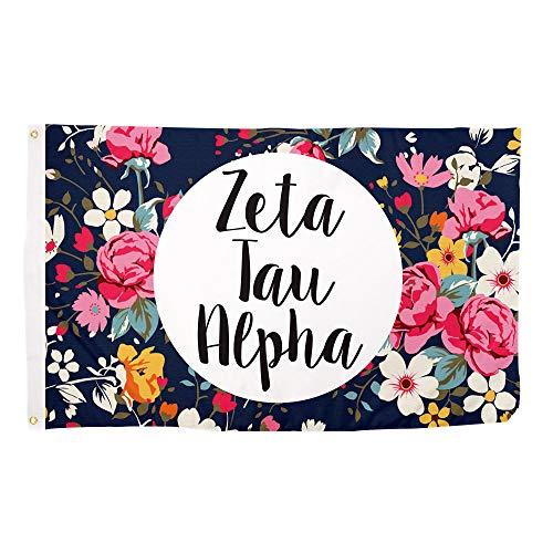 Desert Cactus Zeta Tau Alpha Floral Sorority Flag Greek Letter Use as a Banner Large 3 x 5 Feet Sign Decor