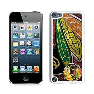 Chicago Blackhawks White iPod Touch 5 Cellphone Case Custom and Genuine Design