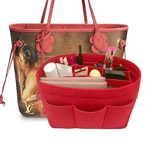 LEXSION Felt Handbag Organizer,Insert purse organizer Fits Speedy Neverfull Red M by LEXSION
