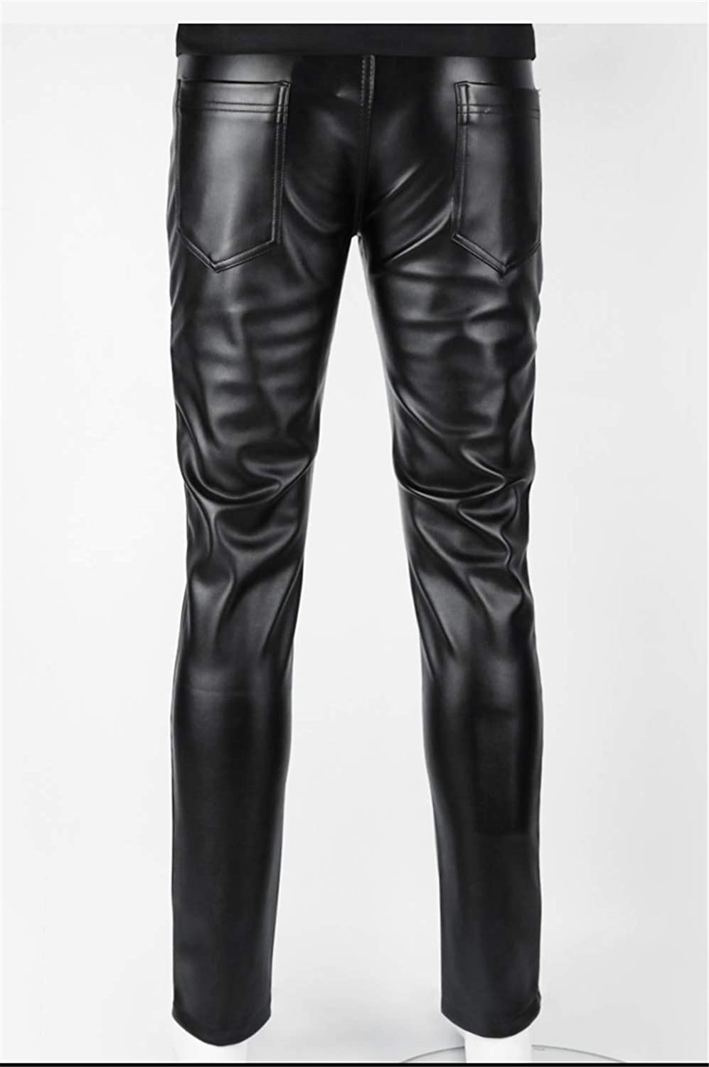 Men's Steampunk Pants & Trousers steel master Punk Casual Pants for Men Gothic Holes Tight Motorcycle Pants Strentch Black Ripped Jeans $67.40 AT vintagedancer.com