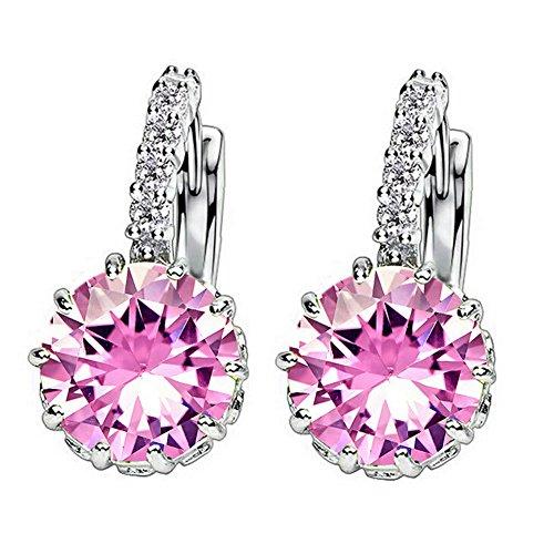1-pair-fashion-women-elegant-crystal-rhinestone-silver-plated-ear-stud-earrings-pink