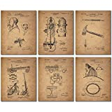 BigWig Photos Fireman Patent Wall Art Prints - Firemen Firefighter Gift (Set of SIX 8 x 10s)