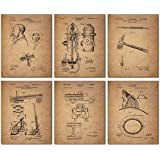 Firemen Patent Wall Art Prints - Set of Six 8x10 Photos - Unique Firefighter Gift Idea for the Fireman in your life!