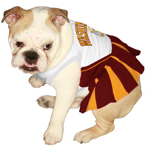 Pets First NFL Washington Redskins Dog Cheerleader Dress, Small, My Pet Supplies
