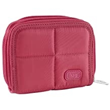 Lug Splits Compact Wallet, Rose Pink, One Size