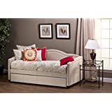 Hillsdale 1119DBT Jasmine Daybed with Trundle, 39.75 H x 83.5 W x 42.5 D, Linen Stone