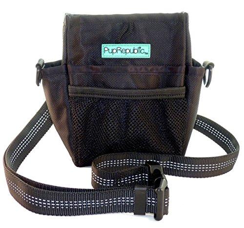 PupRepublic-Premium Dog Training Treat Pouch with Poop Bag Dispenser,Multiple Pockets,Strong Magnetic Closure,Adjustable Belt or Shoulder Strap.