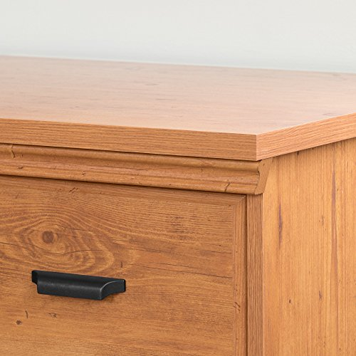 South Shore Versa 2-Drawer Nightstand, Country Pine with Antique Handles by South Shore (Image #4)